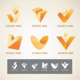 商标和标志设计v概念 免版税图库摄影