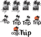 商标咖啡馆的Coffe旅行 皇族释放例证