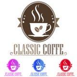 商标咖啡 库存例证
