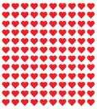 商标心脏例证 平红色心脏设计的象 现代平的华伦泰爱标志 图库摄影