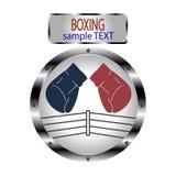 商标拳击的例证 免版税库存图片