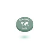 商标旅行社模板设计传染媒介或象 免版税图库摄影