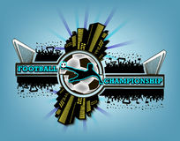 商标橄榄球冠军 免版税库存图片