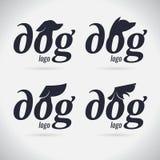 商标狗商标汇集 敌意 字体 符号 也corel凹道例证向量 在空白背景 向量例证