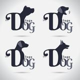 商标狗商标汇集 敌意 字体 自由形态 符号 Abstra 向量例证