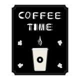 商标的例证杯子咖啡的 免版税库存照片