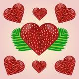 商标的例证题材草莓的 库存图片