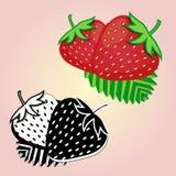商标的例证题材草莓的 库存照片