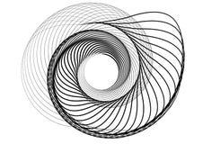 商标的抽象圆的螺旋模板 库存照片