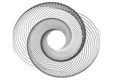 商标的抽象圆的螺旋模板 免版税图库摄影
