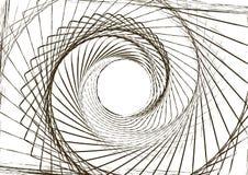 商标的抽象圆的螺旋模板 图库摄影