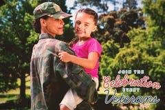 商标的综合图象为退伍军人日在美国 库存图片