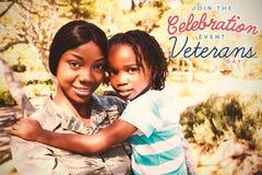 商标的综合图象为退伍军人日在美国 免版税库存图片