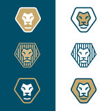 商标的风格化狮子头 库存图片