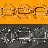商标网络设计 库存例证