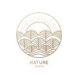 商标自然 向量例证