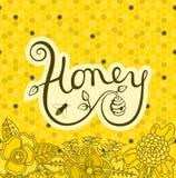 商标蜂蜜 库存例证