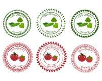 商标设计元素菜包装 免版税库存图片
