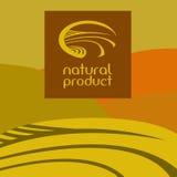 商标,标签 概念穿上忘记全球绿色t温暖 与草甸的风景 免版税库存照片