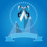 商标登山俱乐部的象徽章 库存例证
