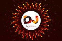 商标DJ模板设计 调平器 库存图片