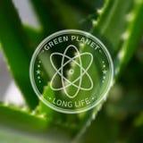 商标Ecology的Company原子模板在Blured 库存照片
