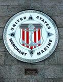 商船美国标志 免版税库存图片