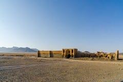 商队投宿的旅舍Varzaneh在伊斯法罕省的伊朗 免版税库存图片