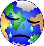 啜泣的地球 库存例证