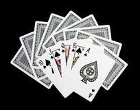 啤牌卡片,皇家闪光 库存照片
