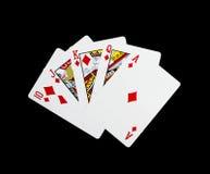 啤牌卡片,皇家闪光 免版税库存照片