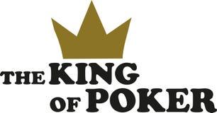 啤牌的国王 向量例证