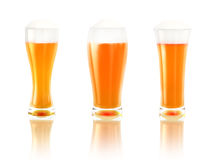 啤酒三 图库摄影