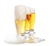 啤酒丰盈 免版税库存图片