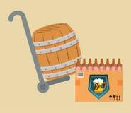 啤酒产业设计 库存图片