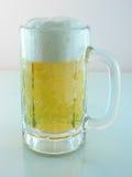 啤酒冷泡沫似的冰 库存图片