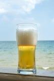 啤酒冷玻璃杯 免版税库存照片