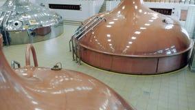 啤酒厂坦克商店啤酒在设施屋子 股票录像