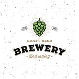 啤酒厂客栈的,酒吧蛇麻草白色 也corel凹道例证向量 向量例证