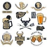啤酒和牛排 库存图片