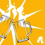 啤酒多士概念 库存照片