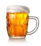 啤酒大杯子 免版税图库摄影