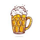 啤酒大杯子 向量例证
