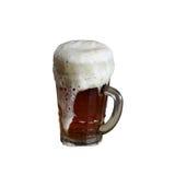 啤酒大杯子 图库摄影