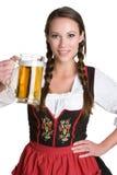 啤酒妇女 免版税图库摄影