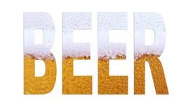 啤酒字体 免版税库存照片