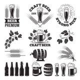 啤酒客栈标号组 设计要素图象例证徽标向量 新娘 皇族释放例证