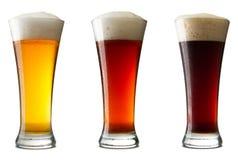 啤酒寒冷三白色 库存照片