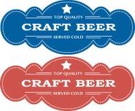 啤酒广告徽章 免版税库存照片