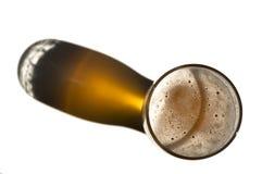 啤酒影子 免版税库存照片